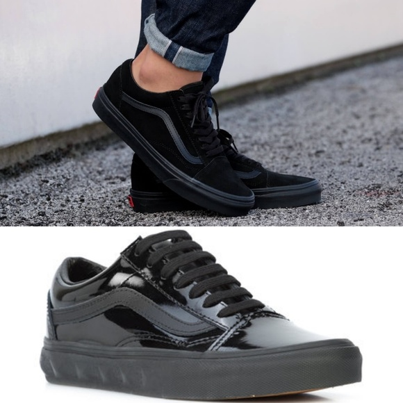 58c0f0930b VANS Old Skool Patent Leather Sneakers. M 5b135fd7a31c33dd92a036b7. Other  Shoes you may like. Black and white authentic ...
